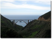 Bixby Bridge von der Old Coastal Road