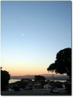 Zum Sonnenuntergang zu Hause