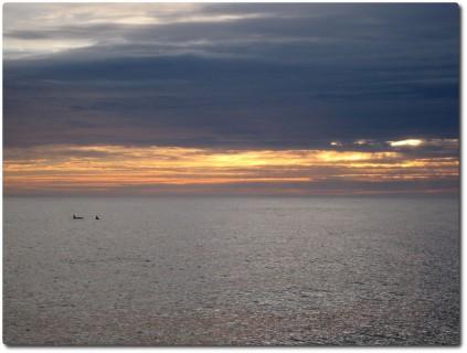 Orkas und Sonnenuntergang 02