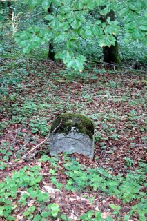 Erster Grenzstein oberhalb des Orisbach