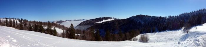 Panorama Althüsli in Richtung Weissenstein