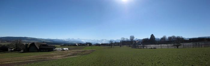Panorama beim Schloss Allmendingen