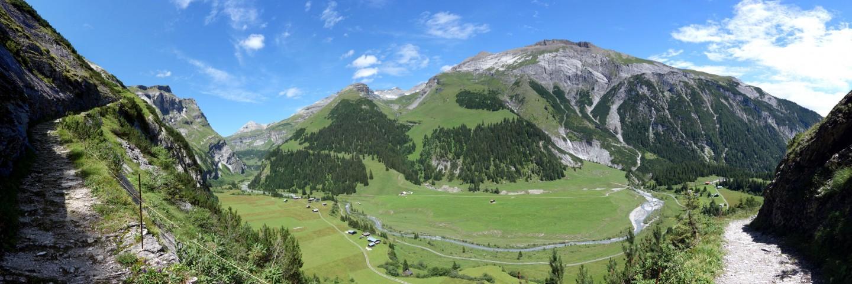 Panorama Bargistal vom Felsenweg Flimserstein aus
