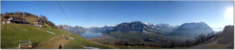 Panoramablick auf dem Bürgenberg