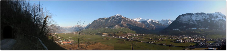 Panoramablick in Richtung Buochserhorn