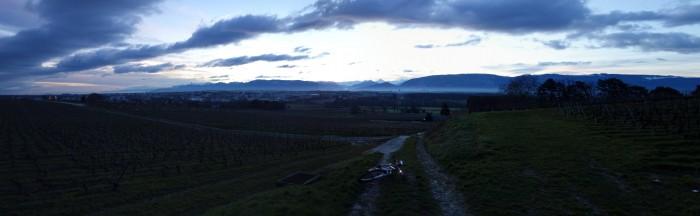 Blick nach Genf von Choully