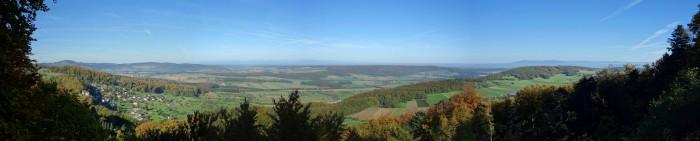 Panoramablick ins Sundgau von der Felsenplatte