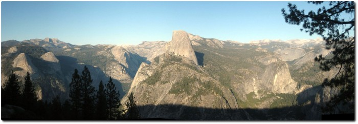 Panorama fom Glacier Point