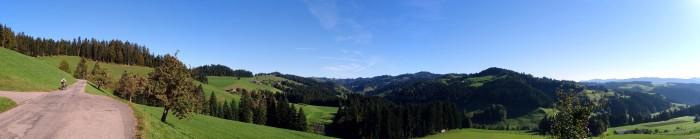 Panorama Gohlgrabe - links rauf, rechts runter