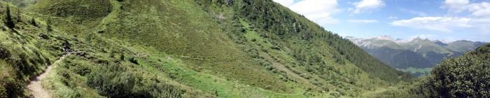 Panorama und Trail im Leidbachmeder