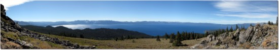 Tahoe Rim Trail - Panorama Lake Tahoe