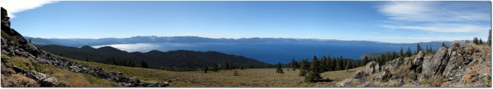 Tahoe Rim Trail - Panorama Lake Tahoe