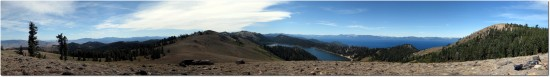Tahoe Rim Trail - Panorama Lake Tahoe und Marlette Lake