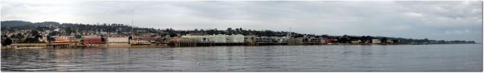 Panorama von Monterey aus Meeressicht