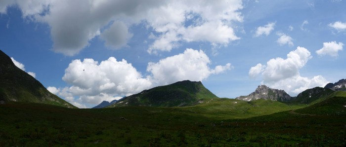 Panoramabild mit Blick nach Motti