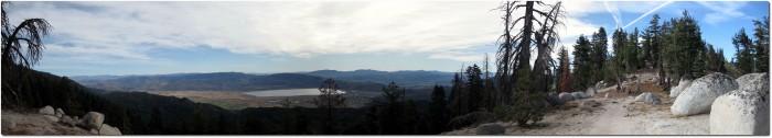Tahoe Rim Trail - Panorama Blick auf Nevada