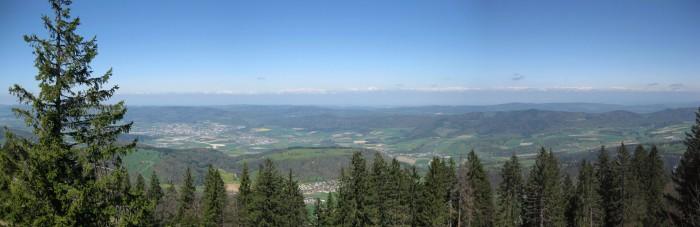 Panorama Mont Raimeux in Richtung Delémont
