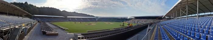 Das nicht so perfekte Panoramabild - Tribüne ESAF 2013