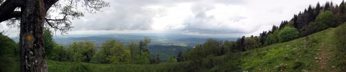 Panorama ob Romont ins Mittelland