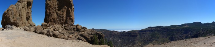 Panorama Roque Nublo in Richtung Osten