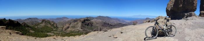 Panorama Roque Nublo in Richtung Westen