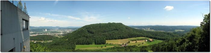 Panorama vom Sälischlössli in Richtung Nordosten