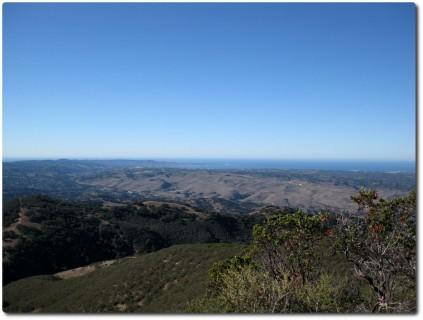 Blick vom Simas Peak nach Monterey
