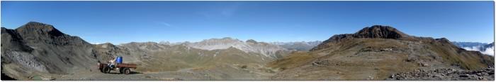 Panorama Dreisprachenspitze in Richtung Westen