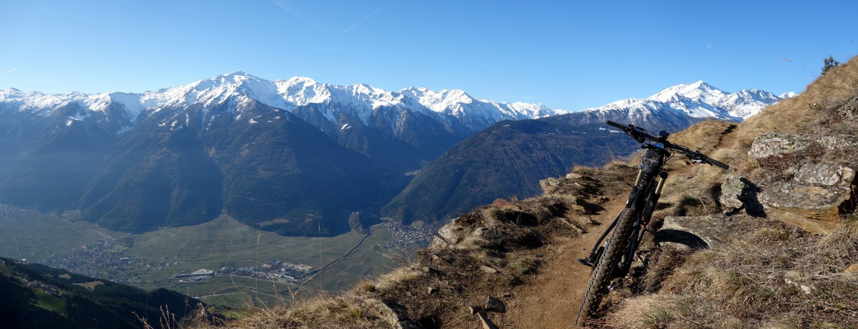 Panoramatrails hoch über dem Vinschgau