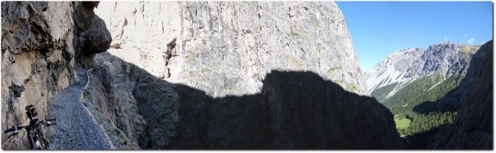 Panorama in der Uina Schlucht