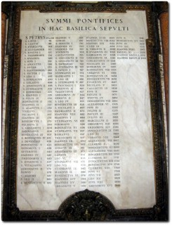 Petersdom - Liste aller Päpste