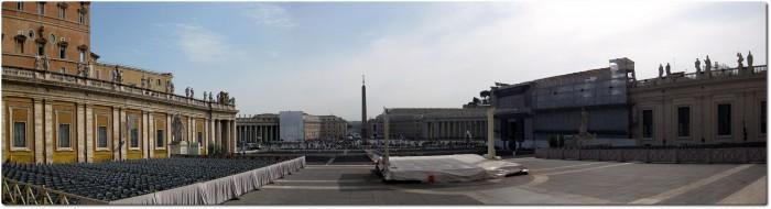 Petersplatz - Panoramablick aus Sicht des Papstes