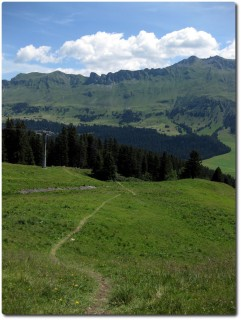 Einstieg zum Trail Alp Stätz - Parpan