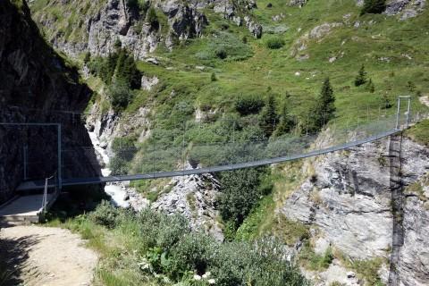 Hängebrücke über die Dyure de Sery