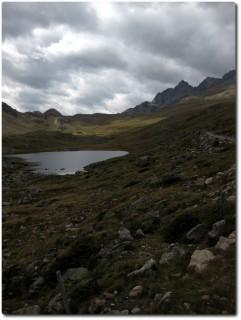 Blick zum Pass Val Viola und Rifugio