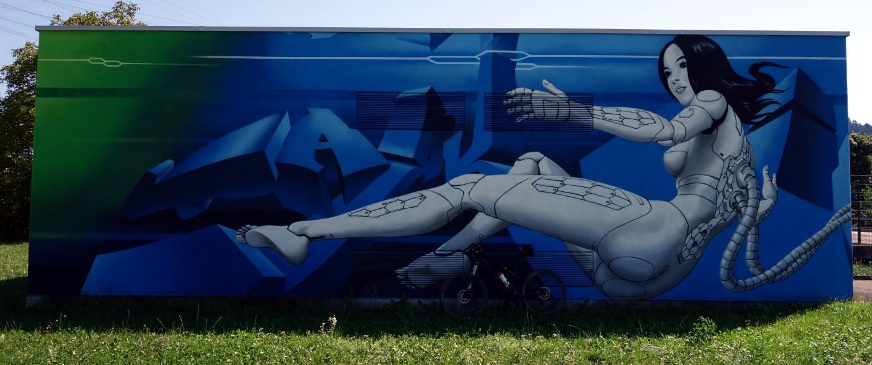 Wandbild bei Pieterlen