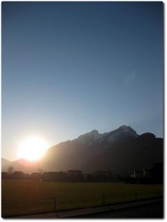 Sonnenuntergang am Pilatus