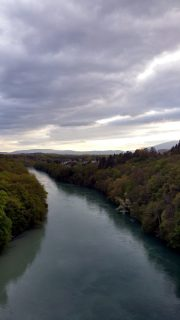 Rhône vom Pont Butin
