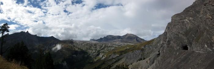 Panorama Aufstieg zum Col du Sanetsch - Tunnel