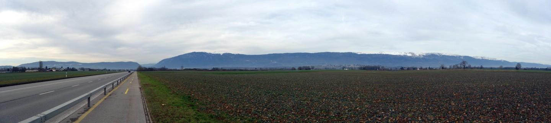 Panorama Crête de la Neige - Route de Chancy