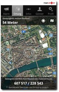 Rega Notfall App - Karte