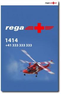 Rega Notfall App - Startbildschirm