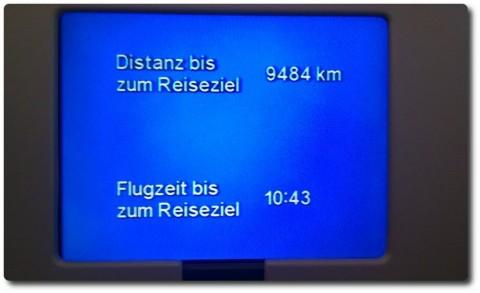 Flugzeit Zürich - LAX