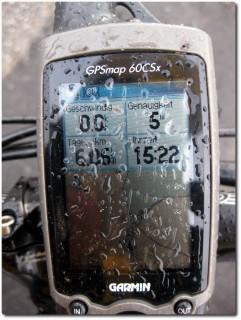 GPSmap 60CSx im Regen