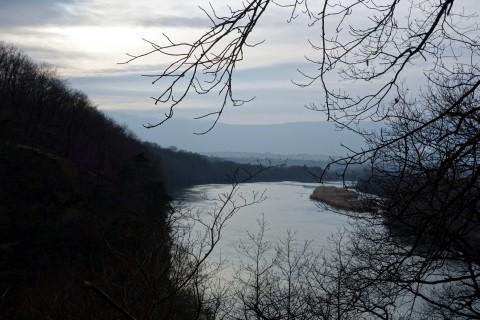 Rhone in Richtung Pont de Peney