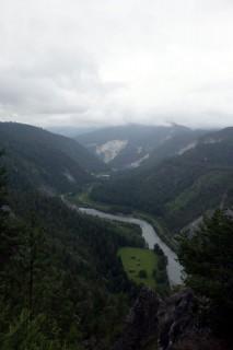 Rheinschlucht von Rieventius aus gesehen