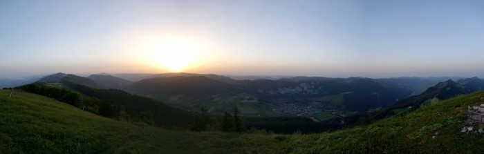 Röti - Panorama Sonnenuntergang
