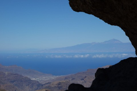 Blick zum Teide auf Teneriffa