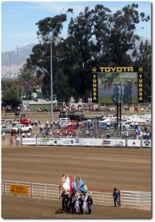 Salinas Rodeo - Flaggenparade