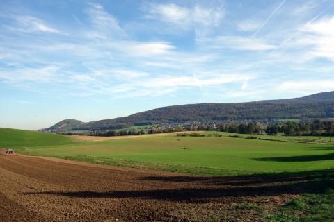 Rodersdorf und erste Jurakette von Nord